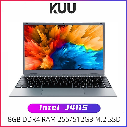 KUU XBOOK 14.1 Inch 8GB DDR4 RAM 128G 256G SSD Windows 10 Laptop