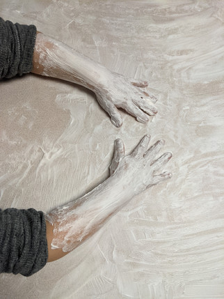 Shaving cream is the perfect messy mess-free activity!
