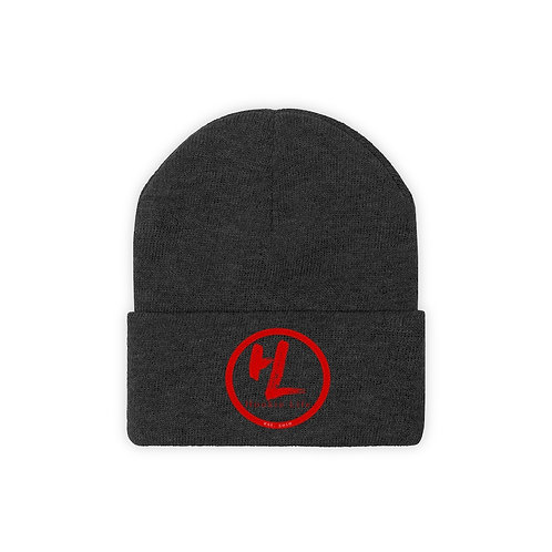HL by HookieLife Knit Beanie (Raging Red Emblem)