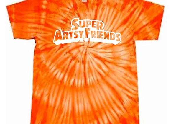 """""""superartsyfriends™"""" tie dye shirt"""