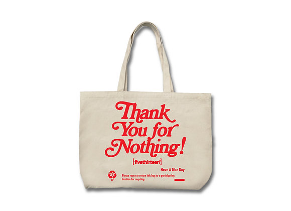 """Thank You"" Canvas Tote"