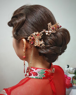 Beautiful finger wave with updo