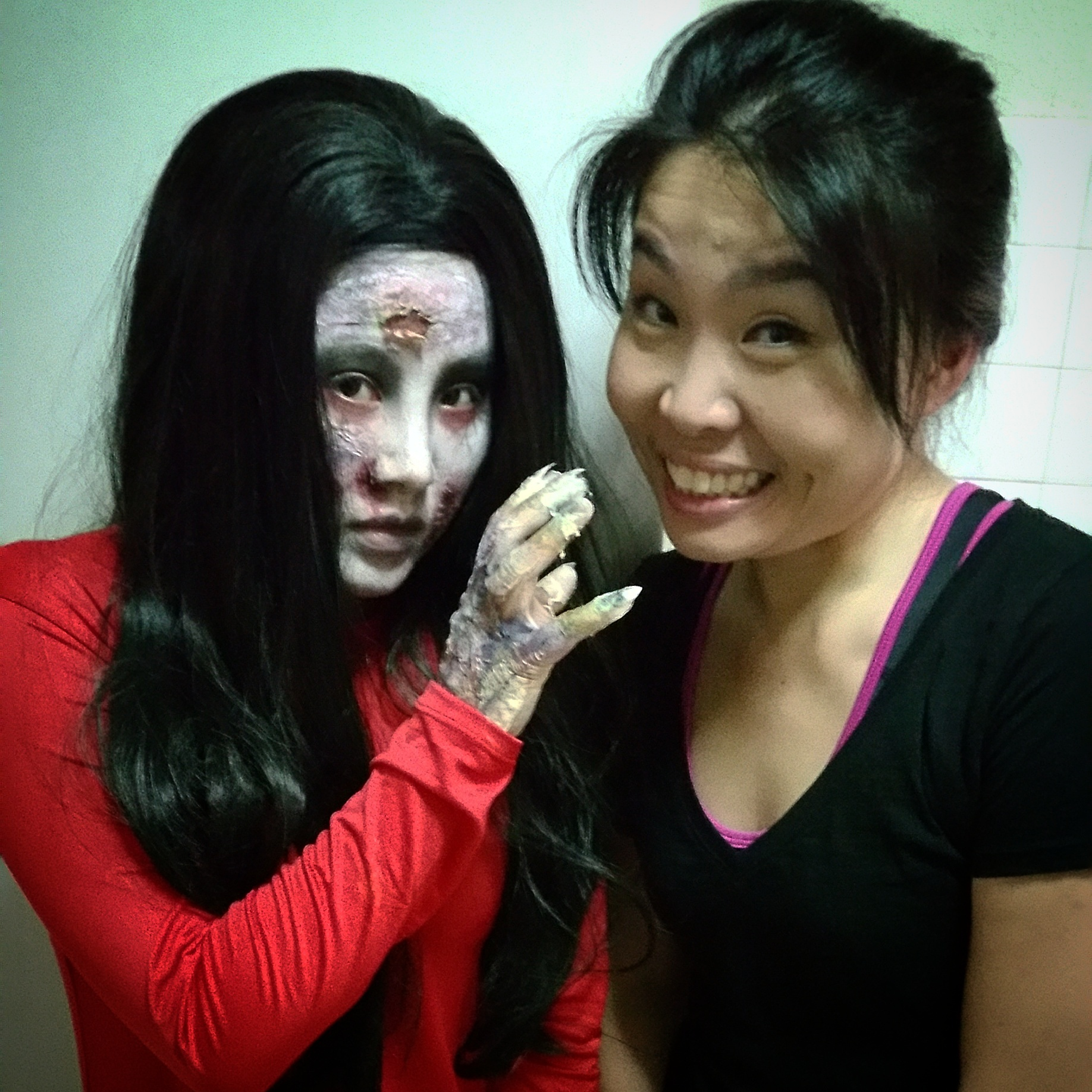 Ghostly Makeup for short flim