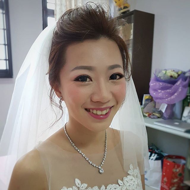 Today's gorgeous bride from _malena_bridal! Bride Karin's smile is so pretty I decide to post her ha
