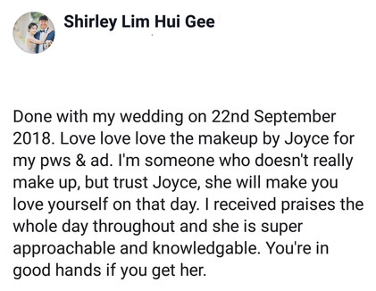 Review by Bride Shirley