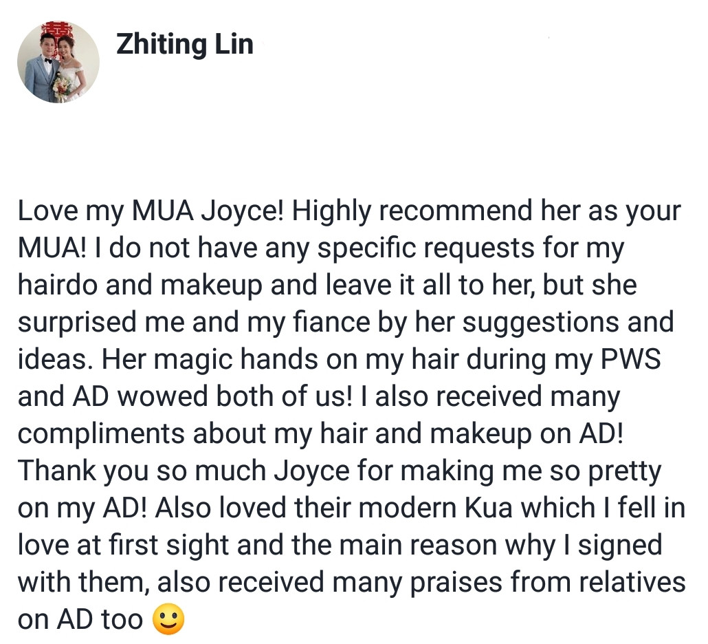 Review by Bride Zhiting