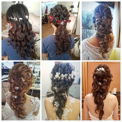 A collage of popular 1st march in hairdos by brides _malenabridal these days, especially those with