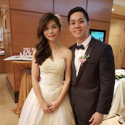 Throwback to the wedding of this cute  couple, Siao Hwee & Jackie at Fullerton Hotel on 7 Jan 2017!