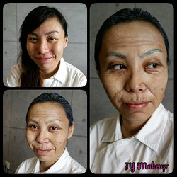 Ageing Makeup with Latex