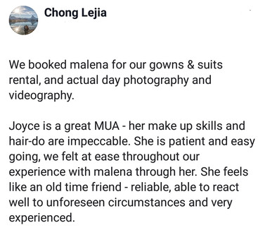 Review by Bride Lejia
