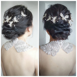 Elegant low updo
