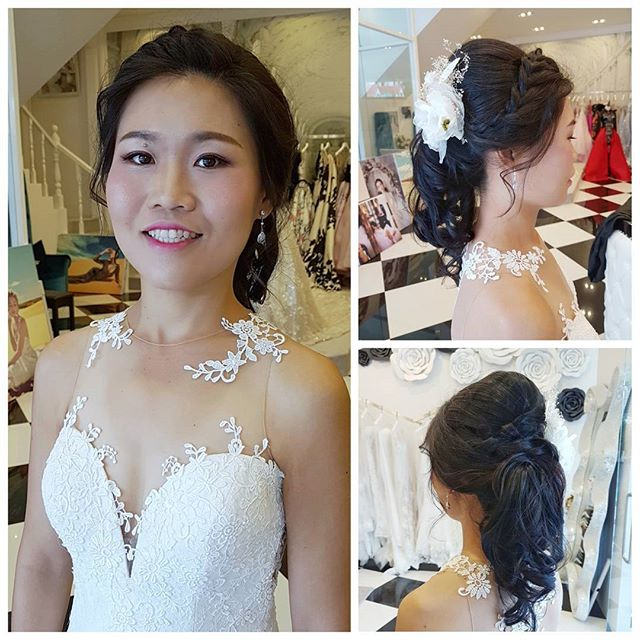 Pre-wed makeup and hair today for bride to be Genelle _malena_bridal! A clean and radiant makeup is