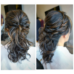 Textured ponytail