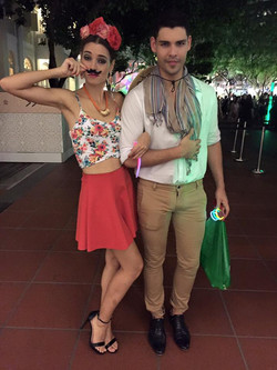 Cute couple representing Mexico