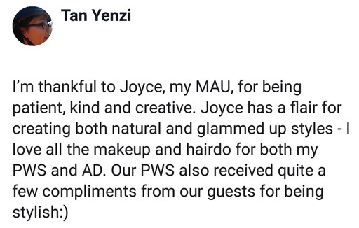 Review by Bride Yenzi