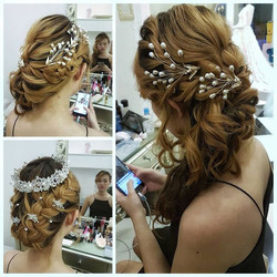 Though I seldom post trial makeup and hairdo pics now, this bride-to-be's _malena_bridal has such pe