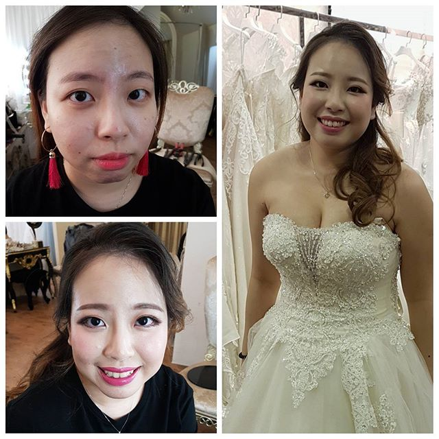 October to January is a period full of weddings, makeup trials and preweddings~ completed trial for