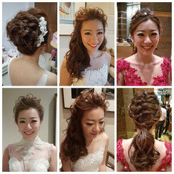Probably my first time doing 4 diff hairdo for a bride