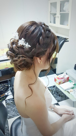 Another popular braided updo