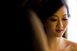 Close up of lovely bride