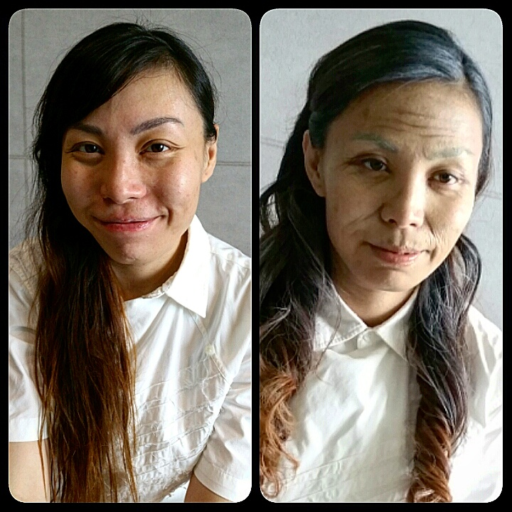 Aging Makeup with Latex