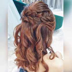 Sweet Braided Half up