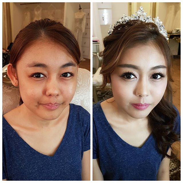 Makeup trial for sweet-looking bride _malena_bridal