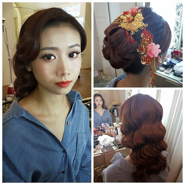 Trial makeup for 古典美人新娘yesterday _malena_bridal