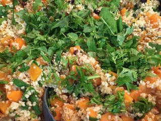 תבשיל בורגול עם ירקות כתומים ותרד