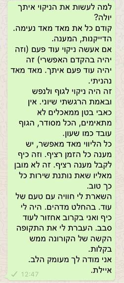 המלצת ניקוי איילת