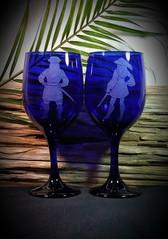 Pirate Couple Cobalt Wine