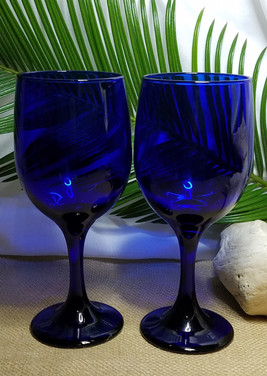 Cobalt Blue Glass Wine