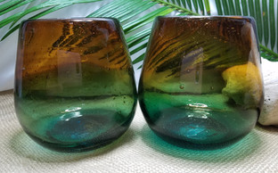 """Sunset"" Glass Stemless"