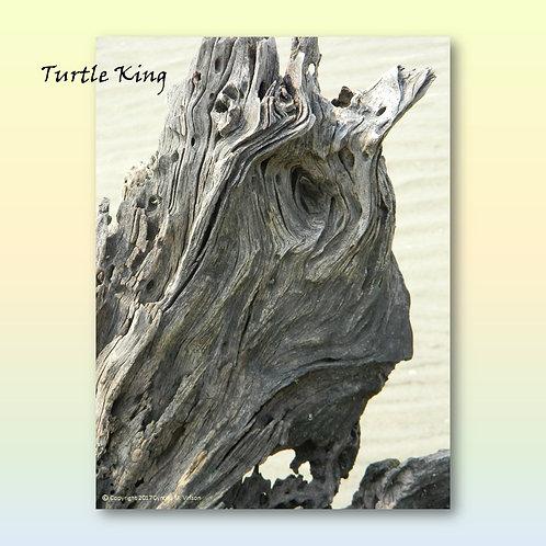 """Double Sided Print of """"Turtle King"""" & """"Hopeful Dog"""""""