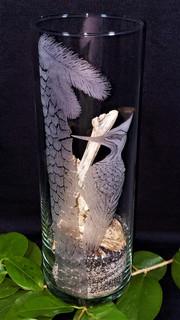 Woodpecker on a Pine Vase
