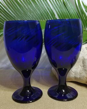 Cobalt Blue Glass Goblets
