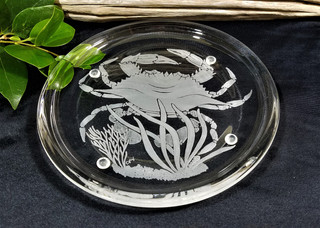 Underwater Blue Crab Candle Plate
