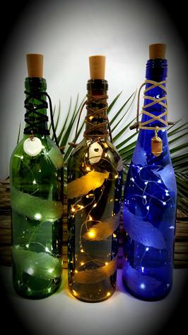 Feathers Wine Bottle Lights