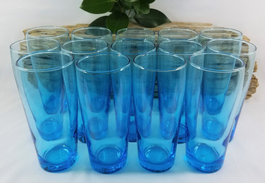 Bright Blue Beverage Glasses