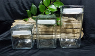 Clear Glass Canister Set