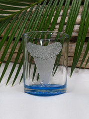 Shark Tooth Glass Votive
