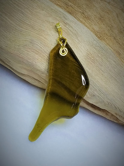 Amber Fired Glass Pendant 01