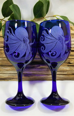 Majestic Octopus Wine Glasses