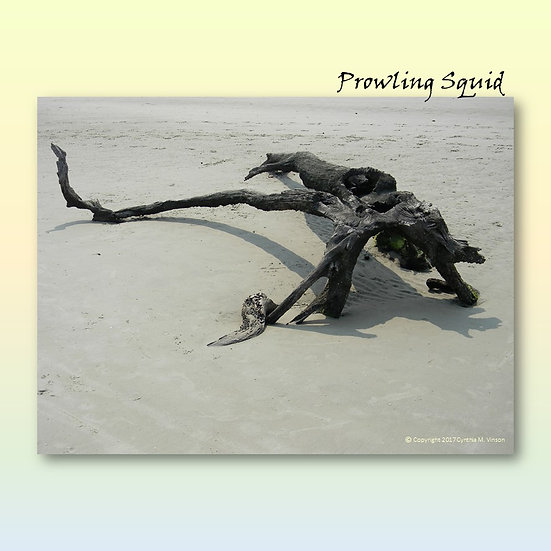 """Double Sided Print of """"Prowling Squid"""" & """"Weathered Totem"""""""