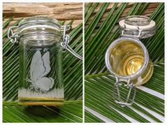 Butterfly Glass Keepsake Jar Gold