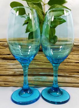 Bright Blue Wine Glasses