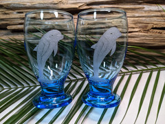 Dolphin Glass Goblets