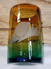 Snail on handblown glass