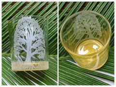 Majestic Oak Glass Votive B