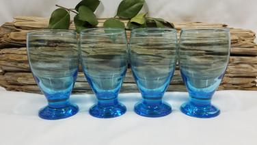 Bright Blue Glass Goblets